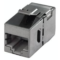 RJ45 sieťový adaptér Bachmann 940.083 CAT 6, [1x RJ45 zásvuka - 1x RJ45 zásvuka], nerezová oceľ