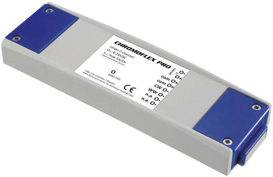LED řadič CHROMOFLEX® Pro stripe, 2 kanály, 12-24 V/DC