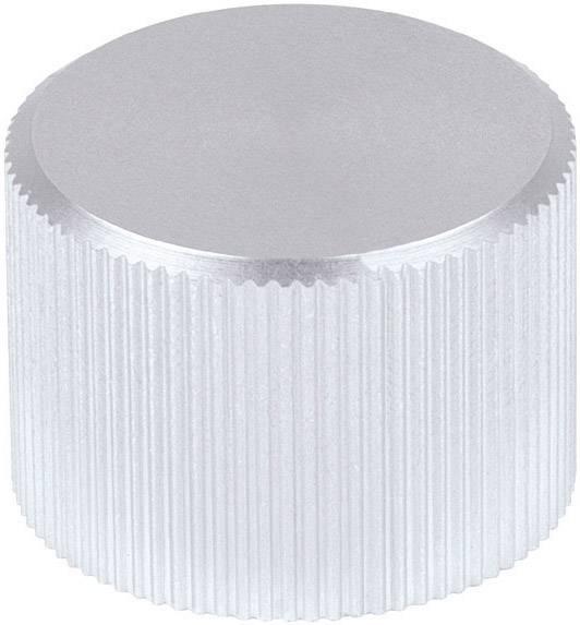 Kovový knoflík Mentor 506.611, 6 mm, matně stříbrná