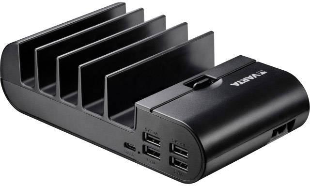 USB nabíjecí stanice Varta 57901101111, nabíjecí proud 9800 mA, černá