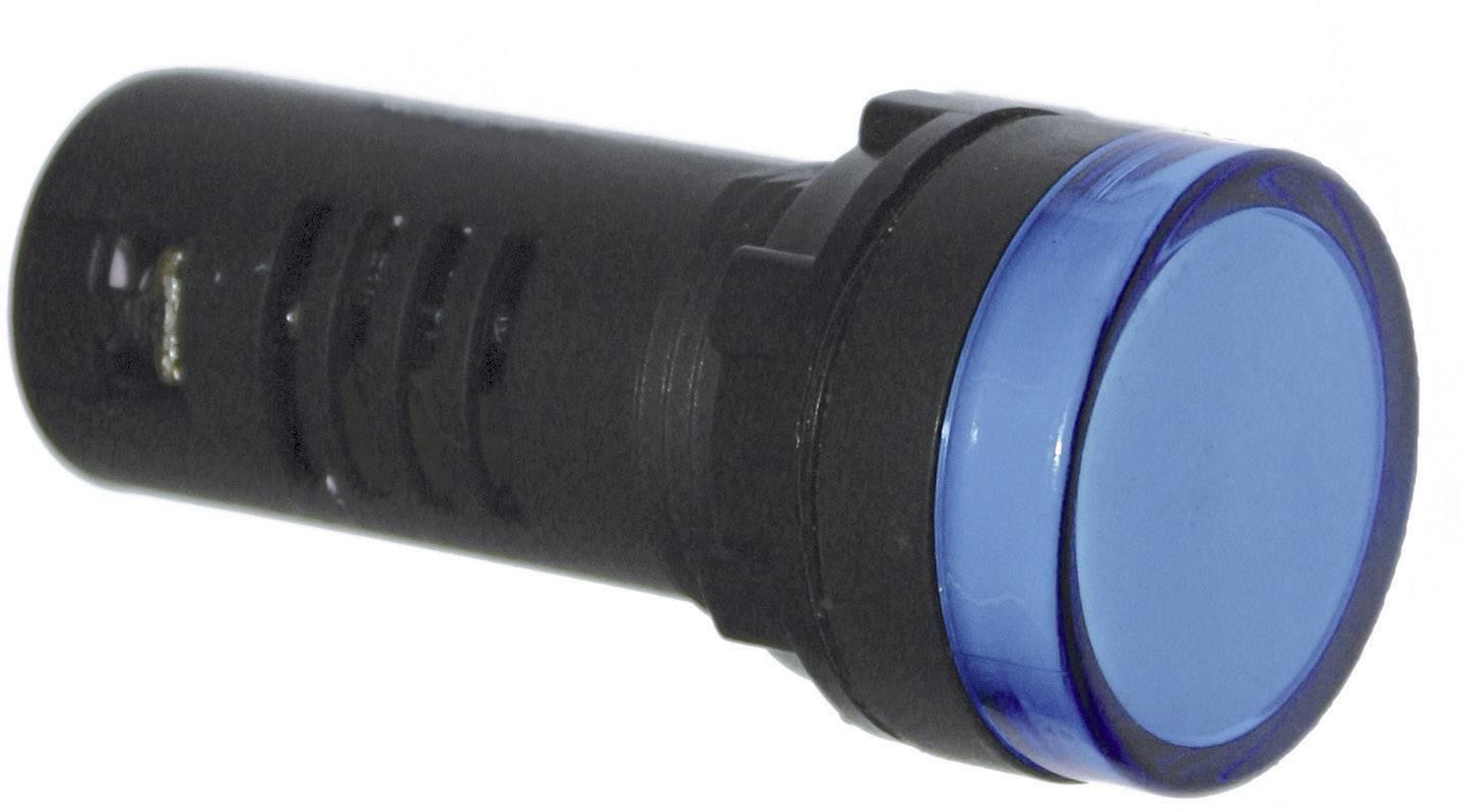 LED signálka 58600015, IP65 (čelní) / IP20 (zadní), bílá
