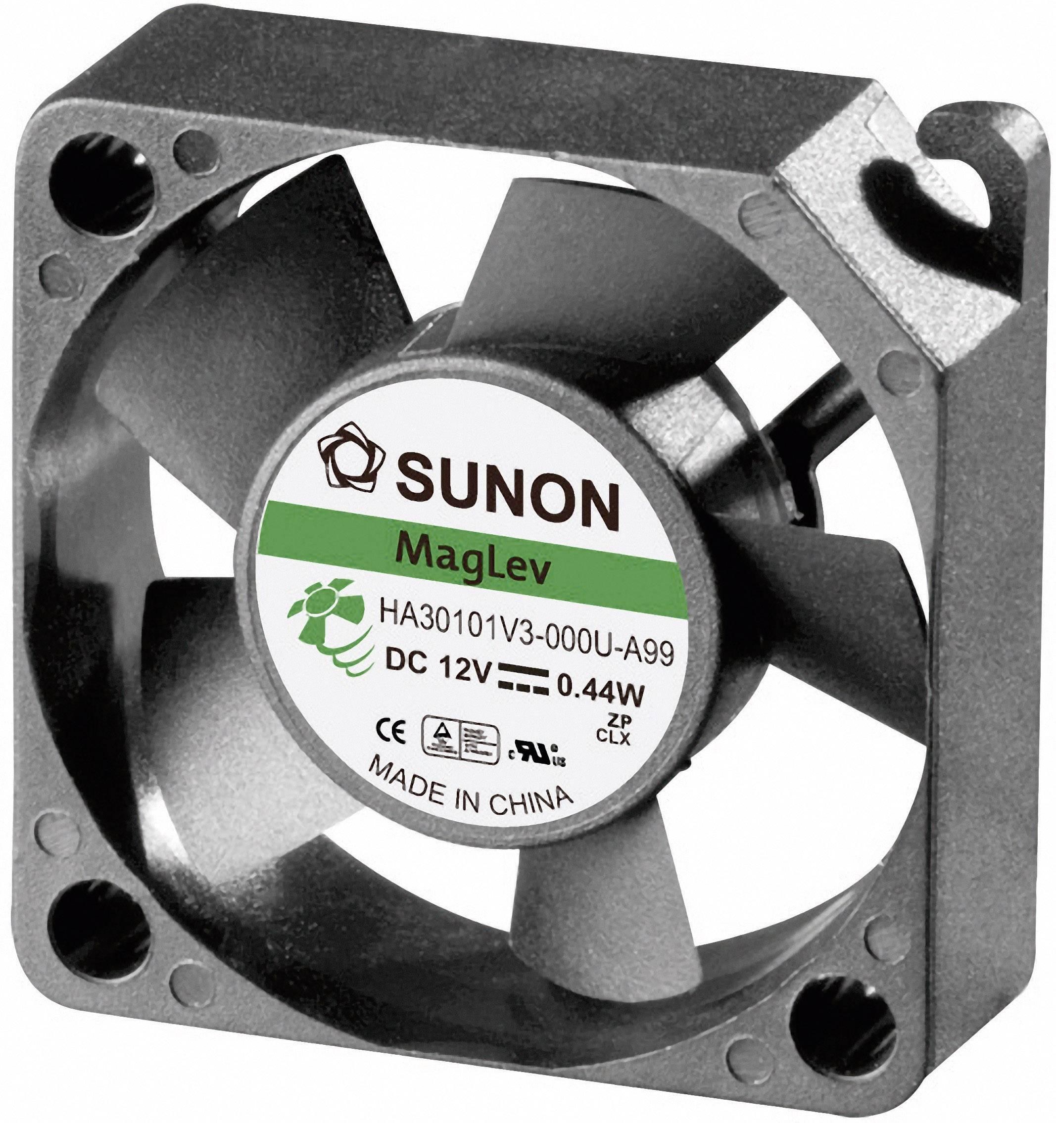 Axiálny ventilátor Sunon HA30101V3-0000-A99 HA30101V3-0000-A99, 12 V/DC, 17.6 dB, (d x š x v) 30 x 30 x 10 mm