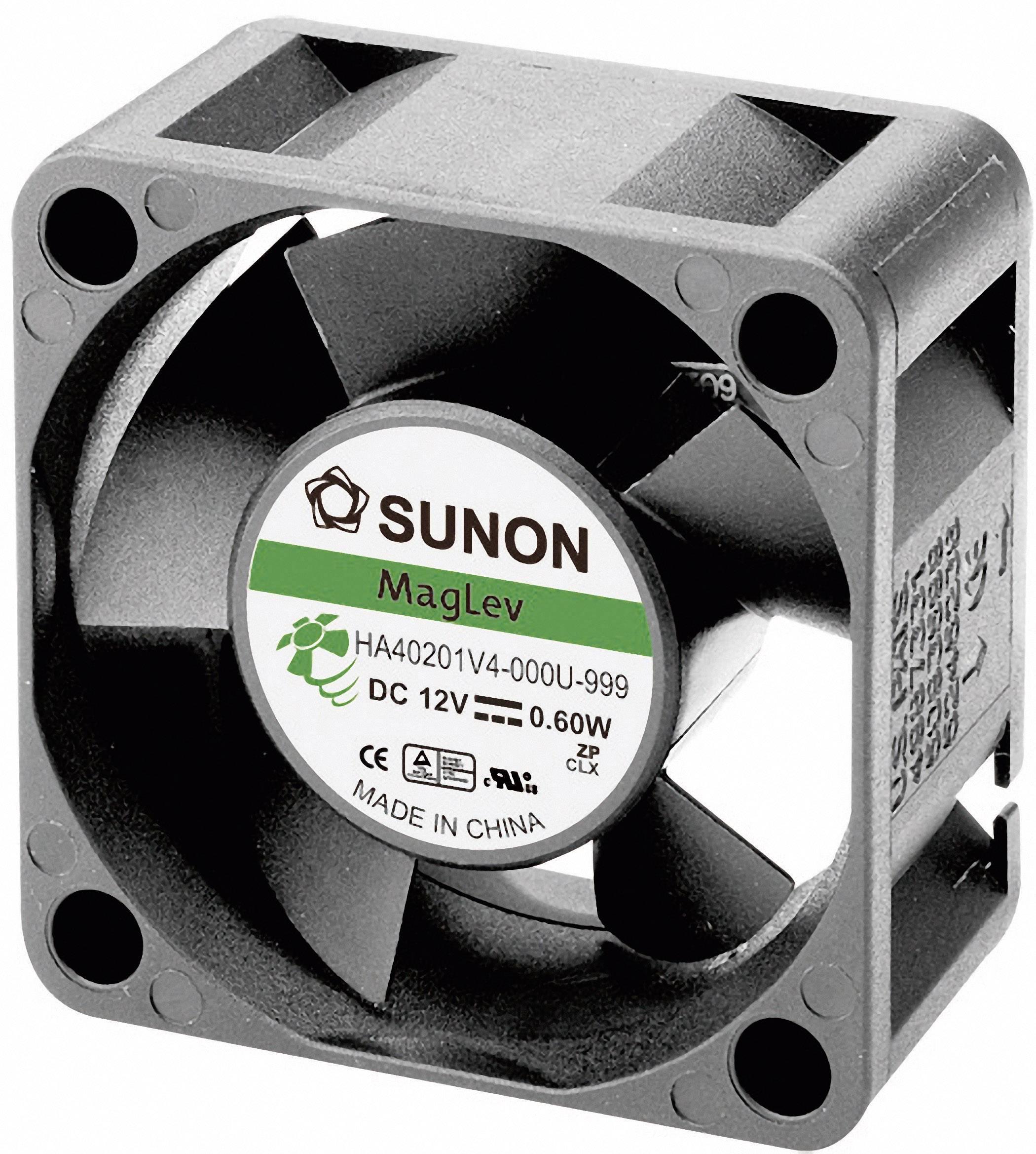 Axiální ventilátor SUNON® Super Silence MAGLev® HA40201V4-0000-999, 12 V/DC, 12.8 dB