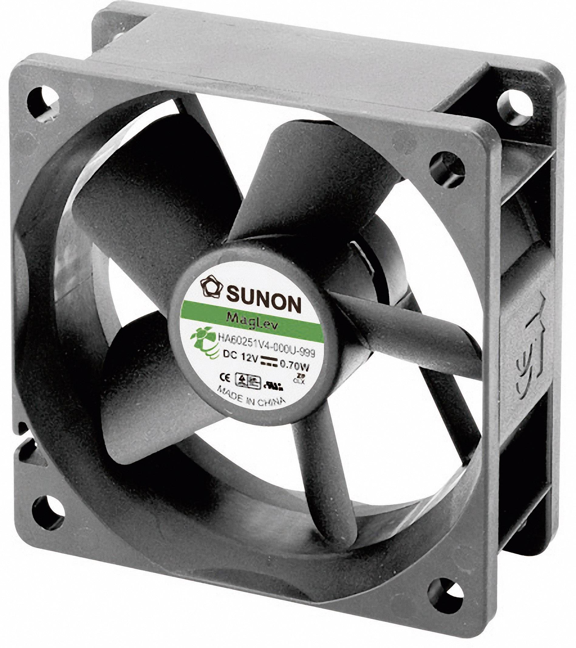 Axiálny ventilátor Sunon HA60251V4-0000-999 HA60251V4-0000-999, 12 V/DC, 13.8 dB, (d x š x v) 60 x 60 x 25 mm