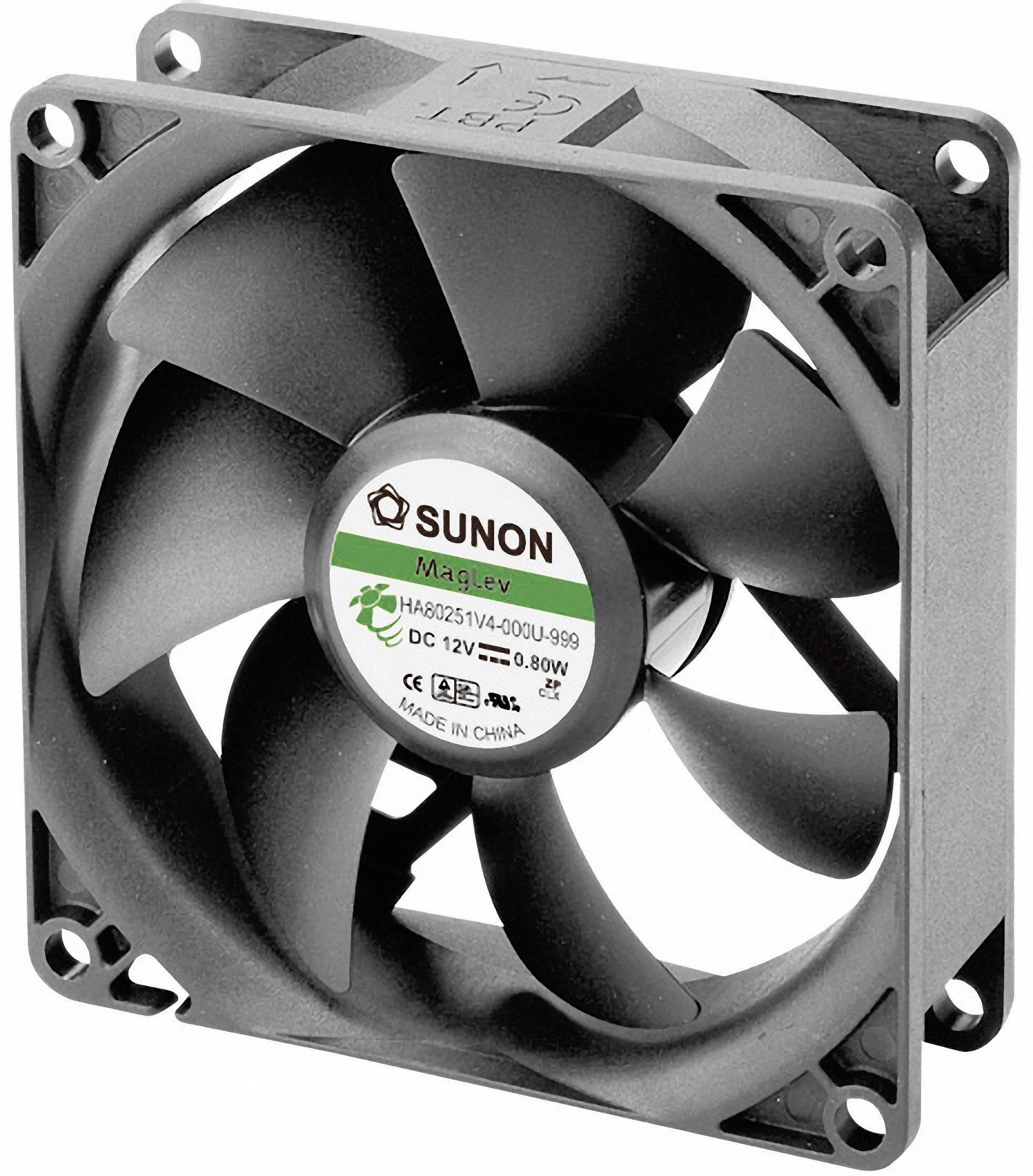 Ventilátor Sunon DR HA80251V4-0000-999, 80 x 80 x 25 mm, 12 V/DC