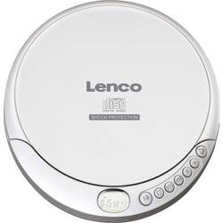 Přenosný CD přehrávač Discman Lenco CD-201, CD, CD-R, CD-RW, MP3, s USB nabíječkou, stříbrná