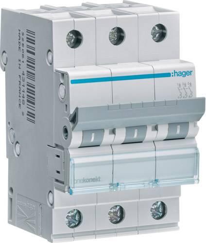 Elektrický jistič Hager MCN310, 2fázový, 10 A, 230 V, 400 V