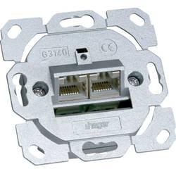 Síťová zásuvka pod omítku panel CAT 6A Hager