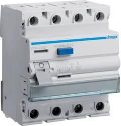 Ochranný proudový spínač Hager CFA440D 40 A 0.3 A 4pólový