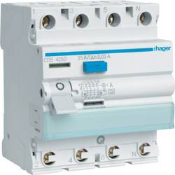 Ochranný proudový spínač Hager CDA425D, 25 A 0.03 A 4pólový