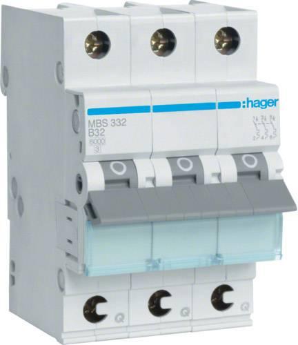Elektrický jistič Hager MBS332, 2fázový, 32 A, 230 V, 400 V