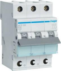 Elektrický jistič Hager MCS332, 2fázový, 230 V, 400 V