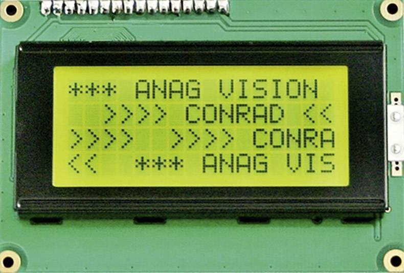 LCD displej 184691, (š x v x h) 87 x 60 x 13.6 mm, čierna, žlutozlená