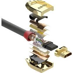 HDMI kabel LINDY [1x HDMI zástrčka - 1x HDMI zástrčka] šedá 10.00 m