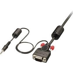 VGA / jack kabel LINDY [1x VGA zástrčka, jack zástrčka 3,5 mm - 1x VGA zástrčka, jack zástrčka 3,5 mm] černá 7.50 m