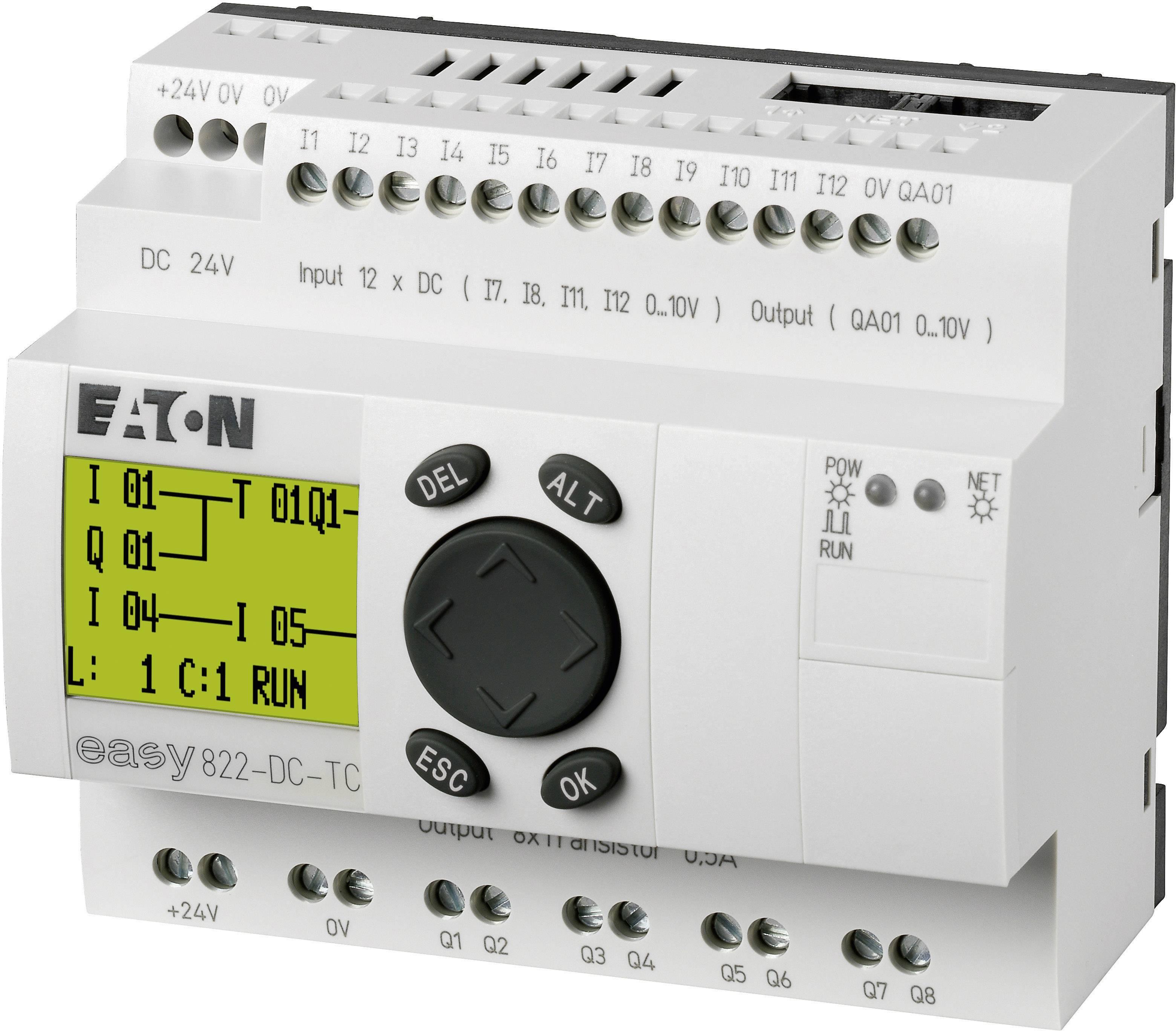 Řídicí PLC modul Eaton easy 822-DC-TC, 256275, RS232/422/485, 24 V/DC