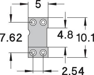 IC pätica Preci Dip 110-83-304-41-001101 presné kontakty, rozteč 7.62 mm, pólů 4, 1 ks
