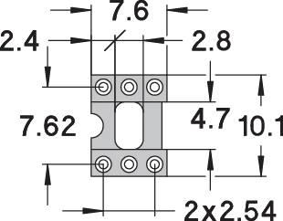 IC pätica Preci Dip 110-83-306-41-001101 presné kontakty, rozteč 7.62 mm, pólů 6, 1 ks