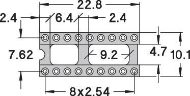 IC pätica Preci Dip 110-83-318-41-001101 presné kontakty, rozteč 7.62 mm, pólů 18, 1 ks