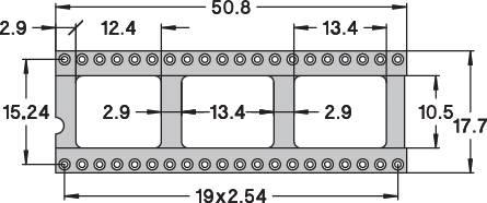 IC pätica Preci Dip 110-83-640-41-001101 presné kontakty, rozteč 15.24 mm, pólů 40, 1 ks