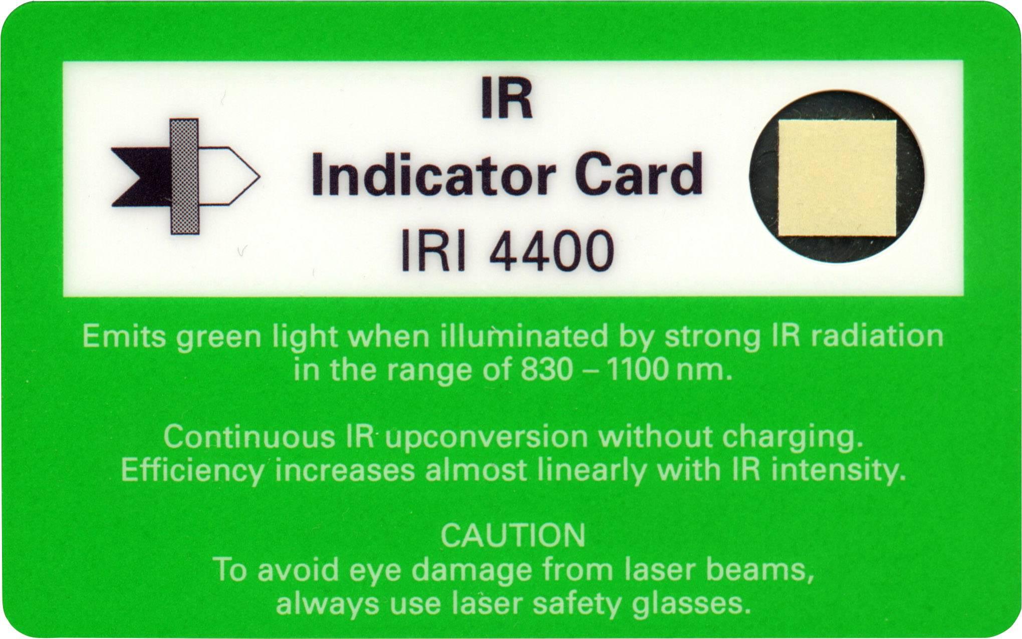 Infračervený indikátor/testovací karta, IRI-4400