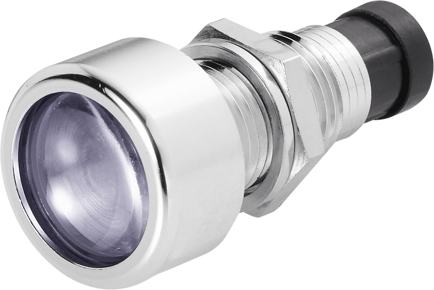 Pochromovaná objímka pro LED 5mm