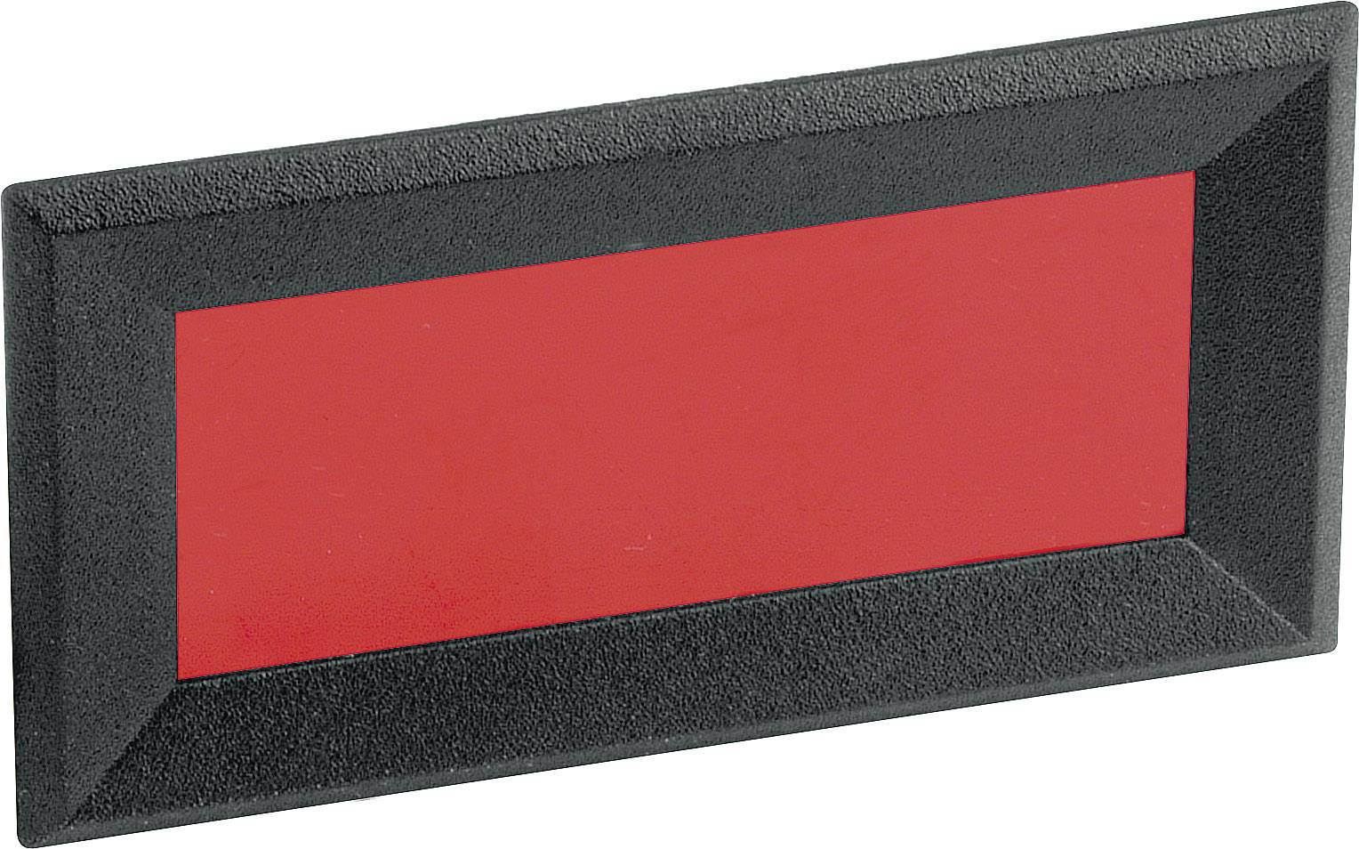 Rámeček pro LCD/LED displeje Mentor 2656.8422, 64 x 28 mm, červená
