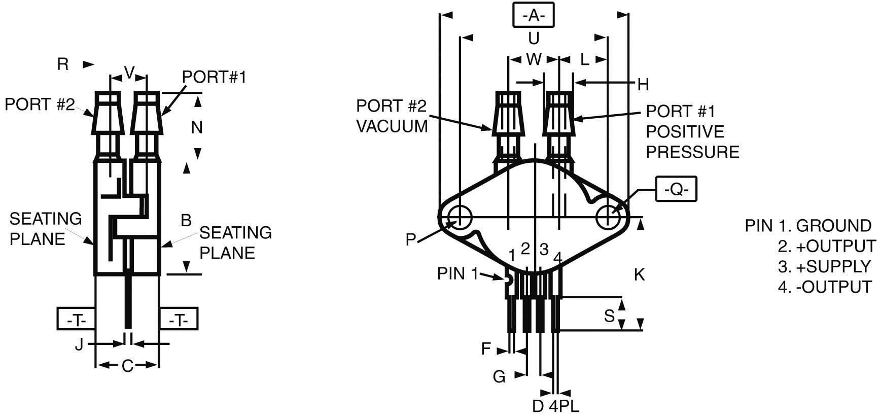 Špeciálny diferenciálny senzor tlaku MPX-2010 DP