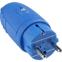 Zástrčka as - Schwabe 62401, guma, IP44, 230 V, modrá