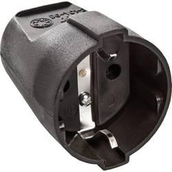 Zásuvka as - Schwabe 45012, PVC, IP20, 230 V, černá