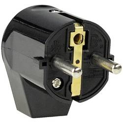 Úhlová zástrčka SchuKo as - Schwabe 45042, PVC, IP20, 230 V, černá