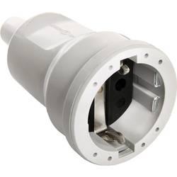 Zásuvka as - Schwabe 62223, PVC, IP20, 230 V, šedá