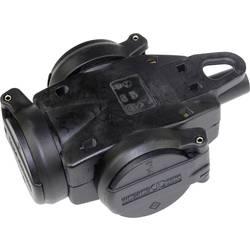 Zásuvka as - Schwabe 60455, plnogumové , IP44, 230 V, černá
