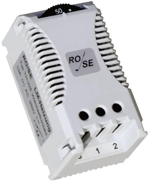 Termostat do rozvodných skříní Rose LM TH-WE, Svorka dvoupólová 2,5 mm²