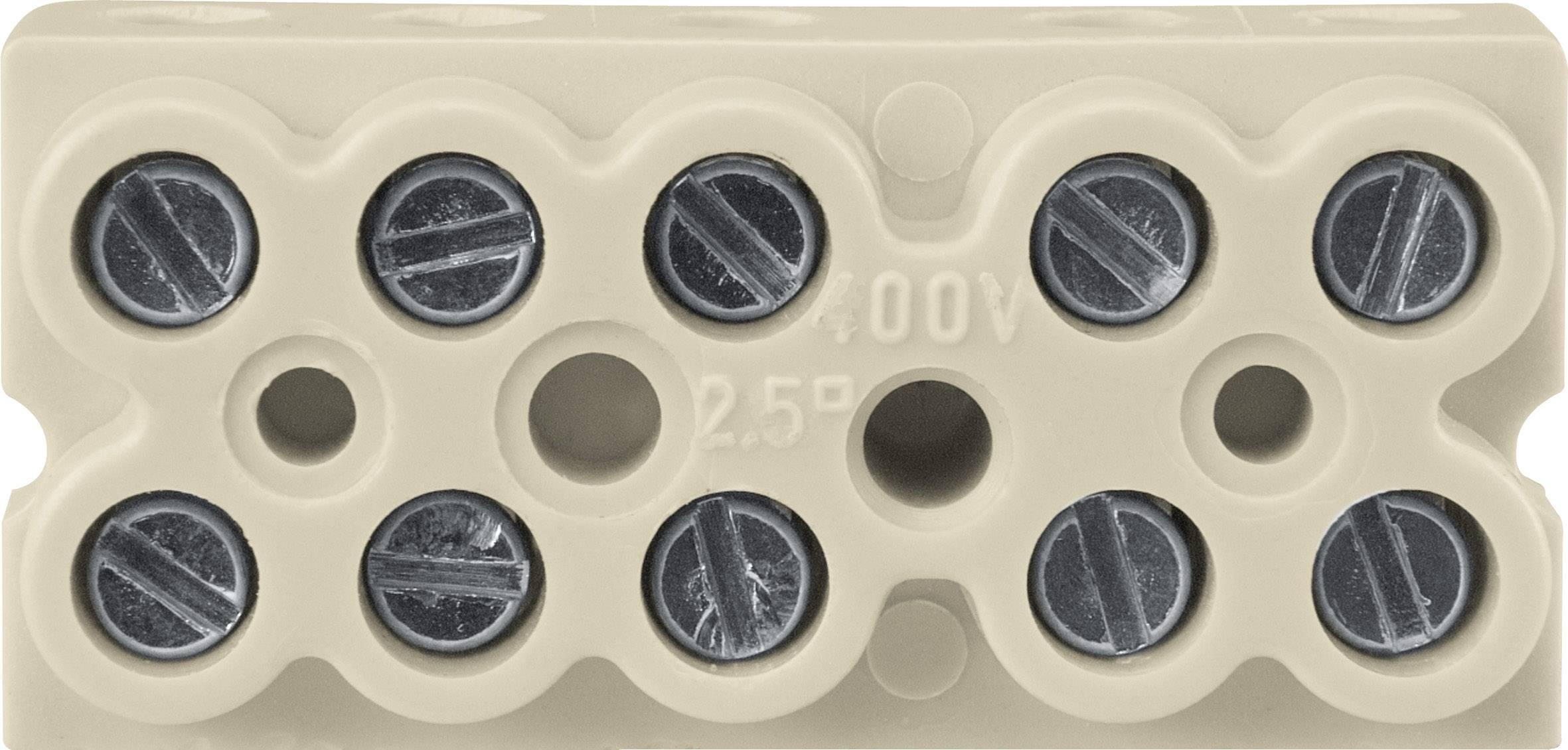 Svorková lišta Merten 520900 pro kabel o rozměru 1-2.5 mm², 1 ks