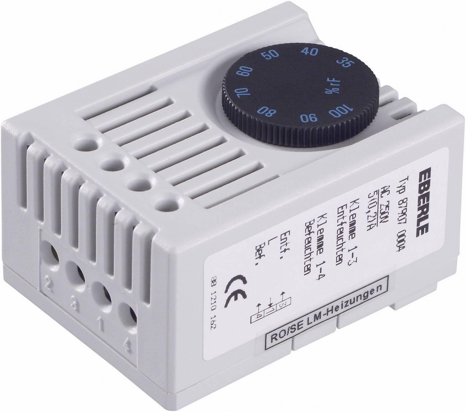 Hygrostat do skriňového rozvádzača Eberle SSHYG 87907 0004 000, 230 V/AC, 1 prepínací, (d x š x v) 46 x 34.5 x 67 mm