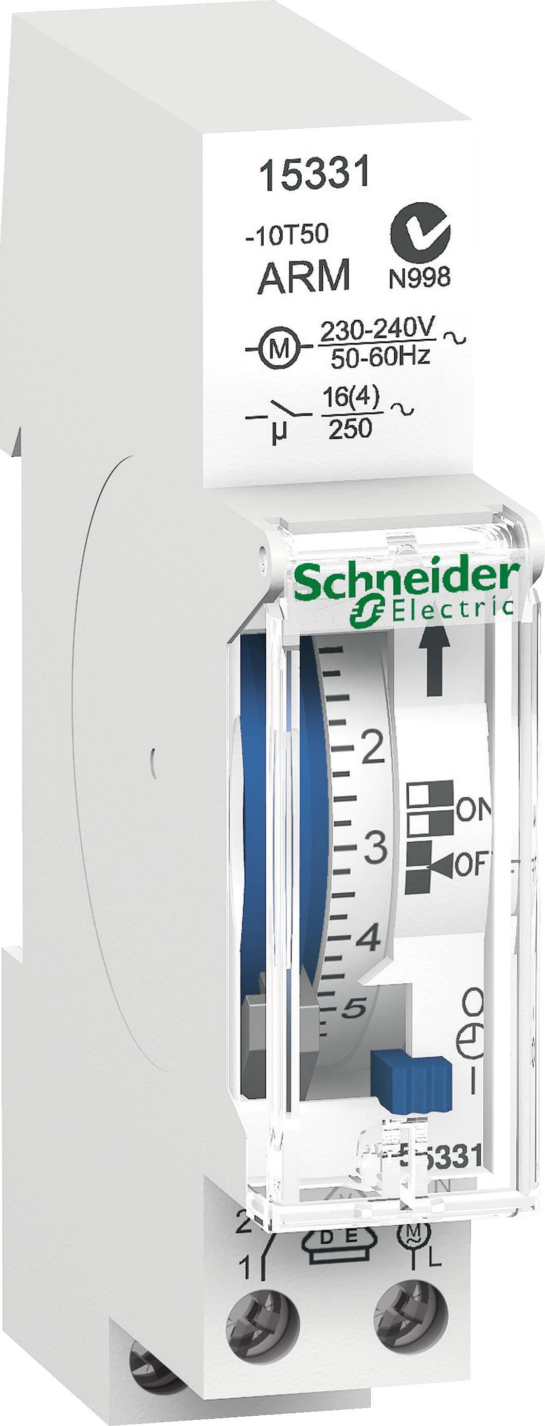 Časovač na DIN lištu Schneider Electric 15331, 230 V