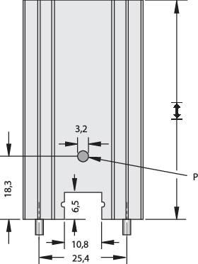 Lisovaný chladič Fischer Elektronik SK 104 25,4 STC-220 + THF 104, 14 K/W, (d x š x v) 34.9 x 25.4 x 12.7 mm