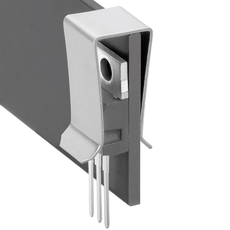 Svorka pro tranzistory Fischer Elektronik THFA 3, poniklovaná pro TO 220