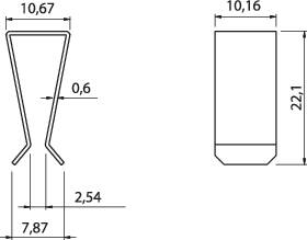 Svorka tranzistory Fischer Elektronik THFA 1, poniklovaná, TO 220