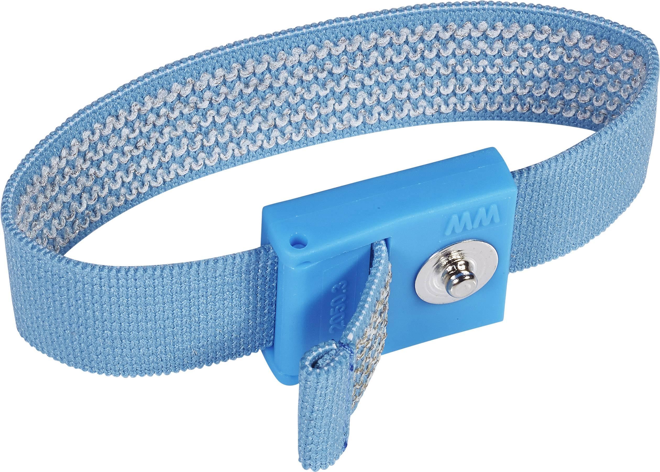 ESD páska na zápěstí Wolfgang Warmbier Antiallergenic, cvoček 3 mm, světle modrá