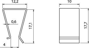 Svorka tranzistory Fischer Elektronik THFA 3, poniklovaná, TO 220