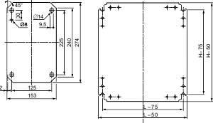 Montážna doska Schneider Electric NSYMM86, (d x š) 800 mm x 600 mm
