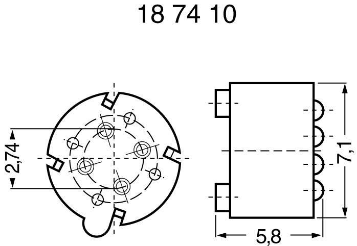 Tranzistorová patice 8 vývodů
