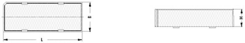 Kryt patice DILS 14 GBLO, Fischer Elektronik, 14pólový, 20 x 12,5 x 11,7 mm