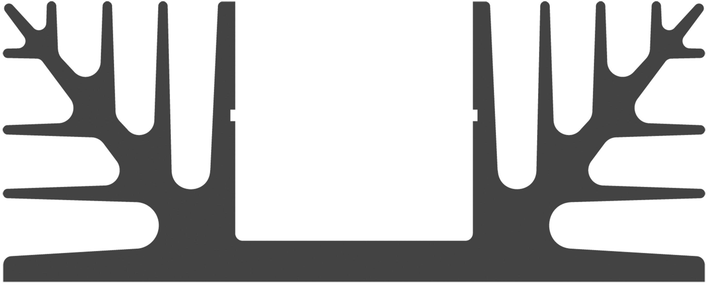 Chladič Fischer Elektronik SK 08 37,5 SA 10018907, 2.8 K/W, (d x š x v) 37 x 88 x 35 mm