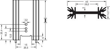 Lisovaný chladič Fischer Elektronik SK 409 50,8 STS 10019873, 6.2 K/W, (d x š x v) 50.8 x 45 x 12.7 mm, TO-220, TO-218, TO-3P