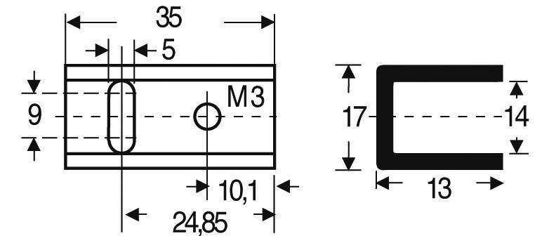 Chladič Fischer Elektronik SK 13 35 SA-220, 17 K/W, (d x š x v) 35 x 17 x 13 mm