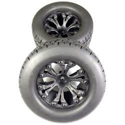 Kompletné kolesá Absima 2500016 pre monster truck, 116 mm, 1:10, 2 ks, čierna
