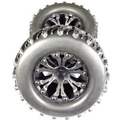 Kompletné kolesá Absima 2500017 pre monster truck, 126 mm, 1:10, 2 ks, čierna